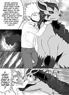 英语漫画 guraena kikoumono 英语 nonrewrite.., mightyena , furry
